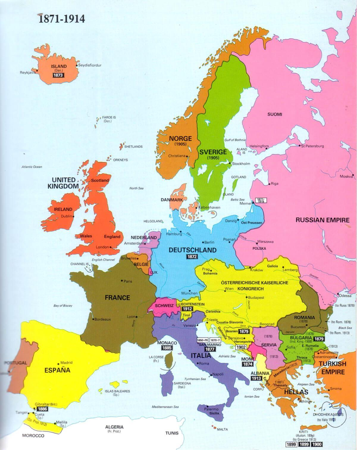 Irland Kart Europa Kart Over Irland Og Europa Northern Europe