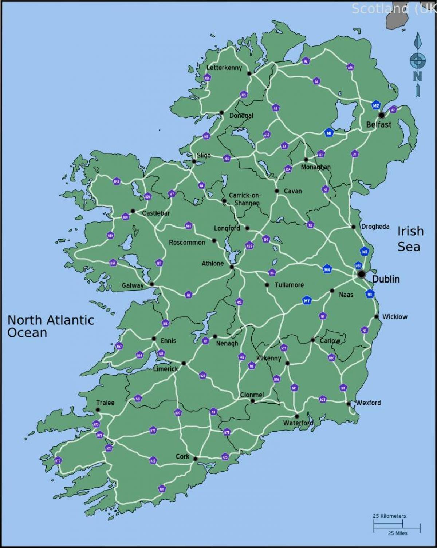 Kjoring Kart Over Irland Avstand Kart Kjoring Kart Over Irland